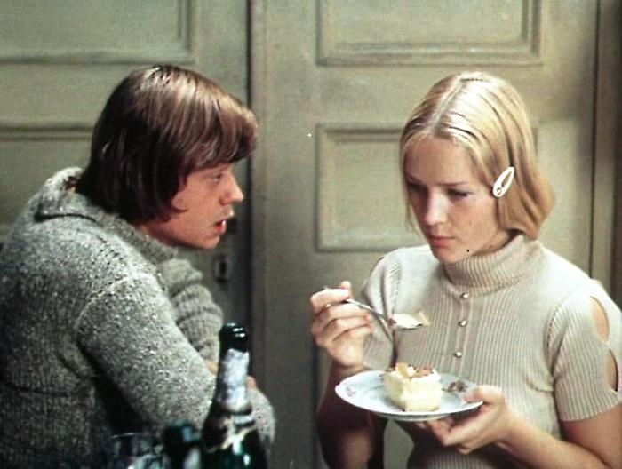 Nikolai Karachentsev and Natalya Yegorova in the film 'Older Son'. 1975