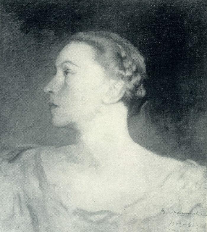 Portrait of Galina Ulanova. 1942-1946