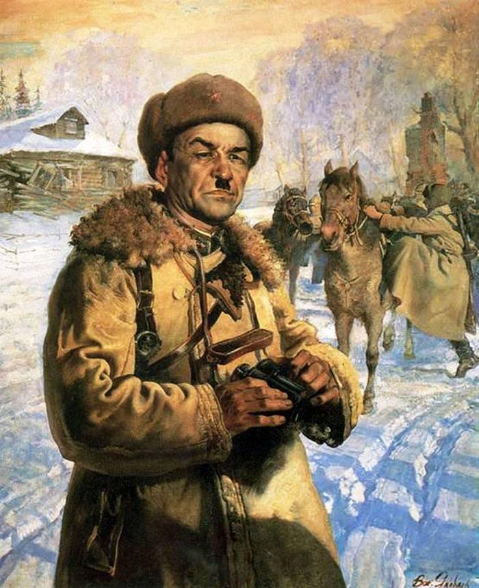 Portrait of the Hero of the Soviet Union, Major-General I.V. Panfilov. 1942 The State Tretyakov Gallery