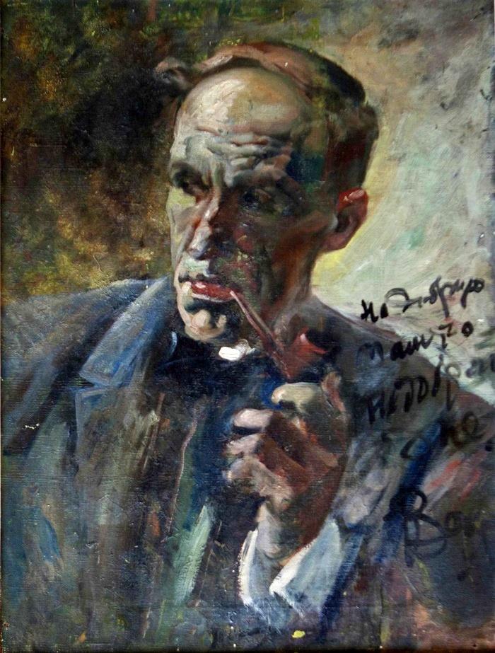 Portrait of the artist Ksavery Pavlovich Chemko. The 1920s. Canvas, oil