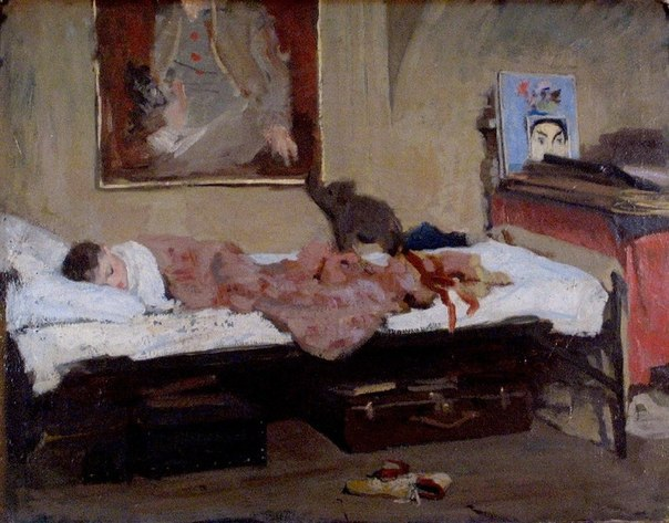 Sleeping son. 1945