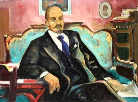 Painting by Soviet Belarusian artist Leonid Dmitrievich Shchemelyov (born 5 February 1923)