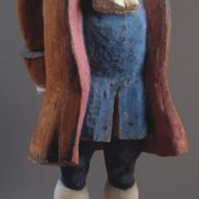Wood sculpture of Vitus Bering. 1987. Gesso, paintinted