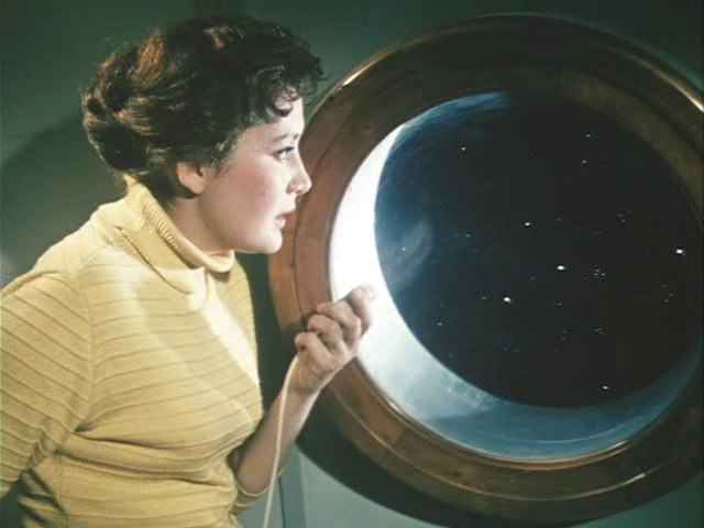 In the film Planet of storms. 1961