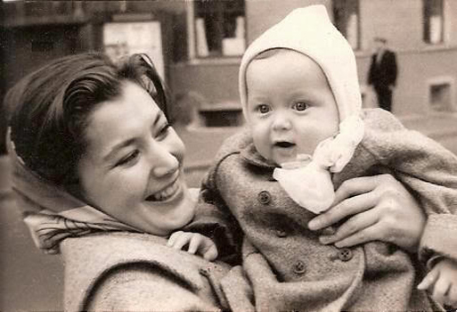 With her son, actress Kyunna Ignatova