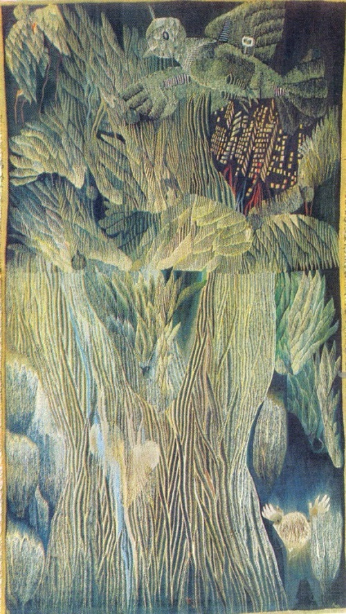 'Frostmourne of war years'. Hand weaving. 1980. Danute Kvetkyavichute