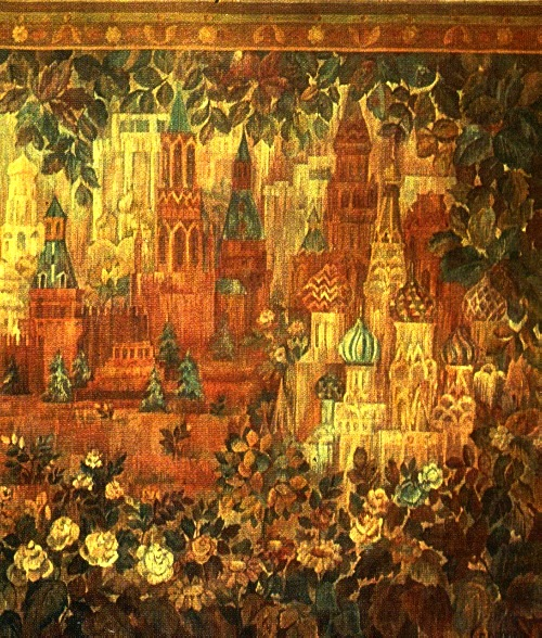 G. Orlova (Moscow). Tapestry 'Red Square'. 1981 Wool, hand weaving, detail