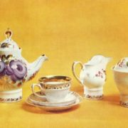 NM Ropova (born 1946 Dulevo). The service 'Russian tea'. 1976. Porcelain, overglaze