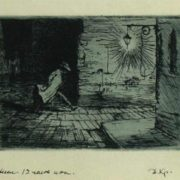 Paris, Midnight. Lithography. 1970s