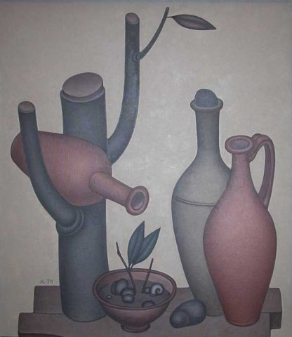 Pitchers. 1970. Oil on canvas