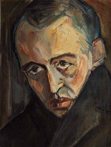Portrait of Reshetnikov. 1945. Oil, canvas. Artist D.M. Krasnopevtsev