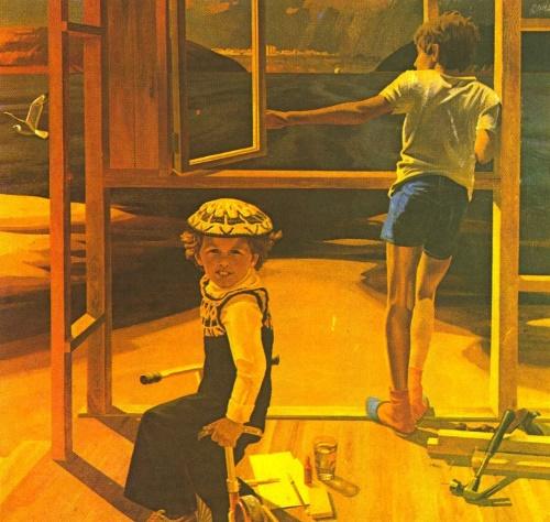 Rest on the Volga. Oil. 1985