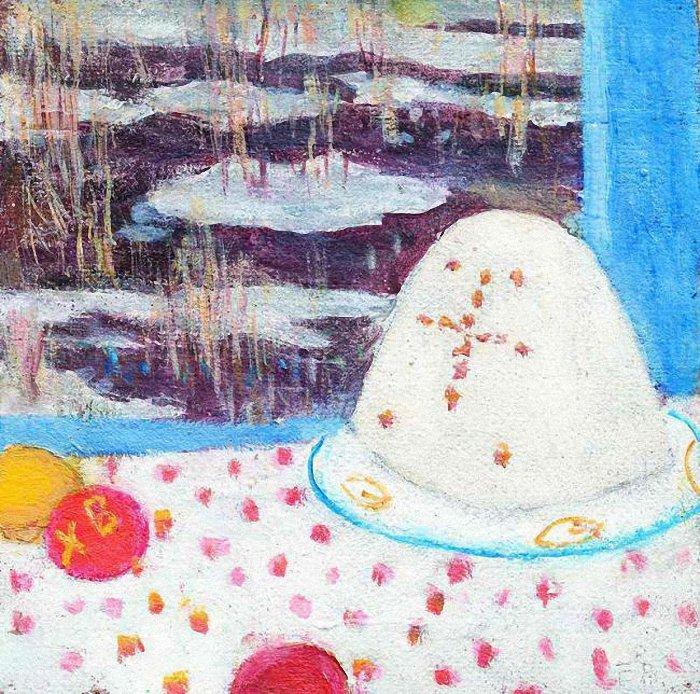 1980s Easter still life