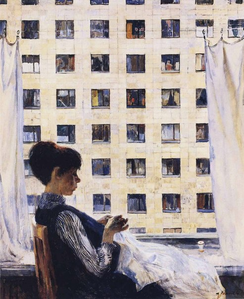 Alexandr Romanychev (1919-1989). At the window. 1968