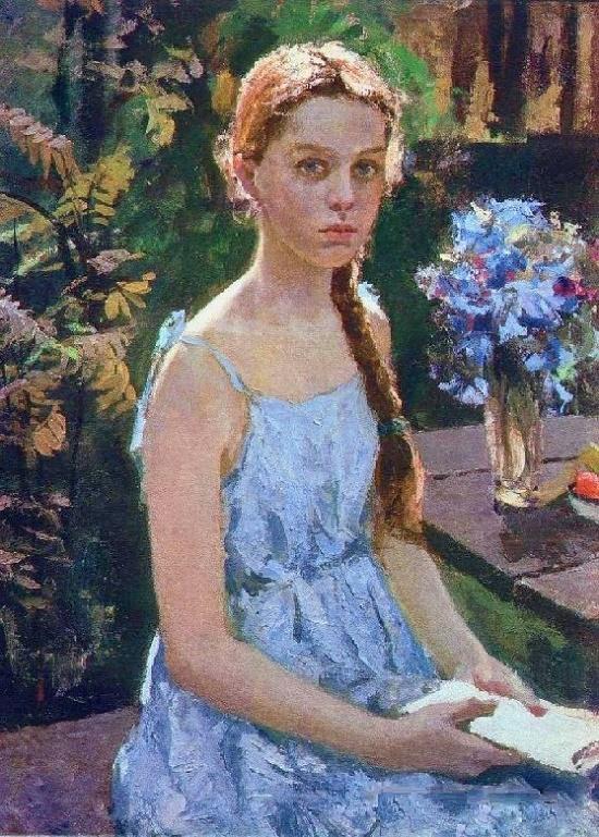 Anyuta (artist's granddaughter). 1985