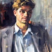 Artist Zaretsky, self-portrait. 1950s