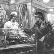 At the fish shop. 1936