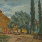 Soviet Russian artist Anatoly Fedorovich Alekseyev