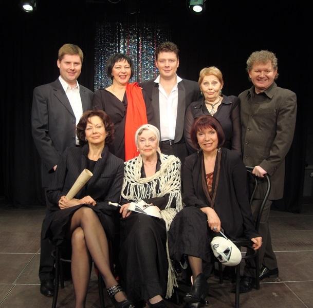 Group photo. Famous Soviet episode actress Nina Agapova