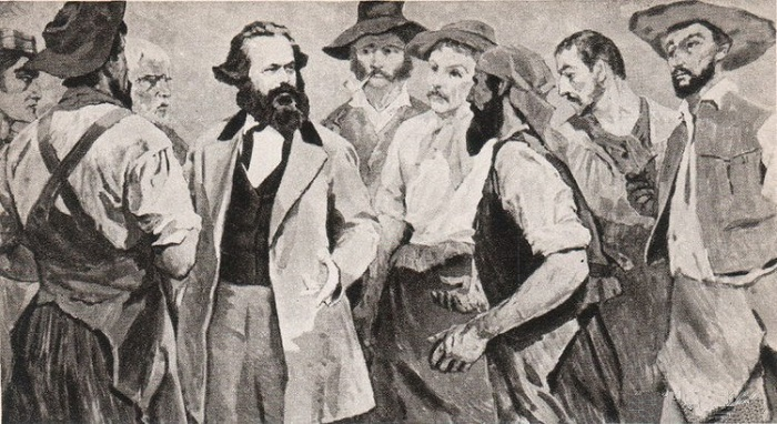 Karl Marx among the Parisian workers