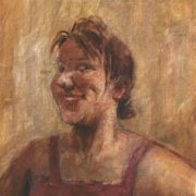 Laughing woman's portrait. 1967
