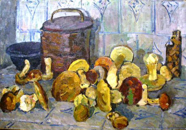 Mushrooms, still life. 1960