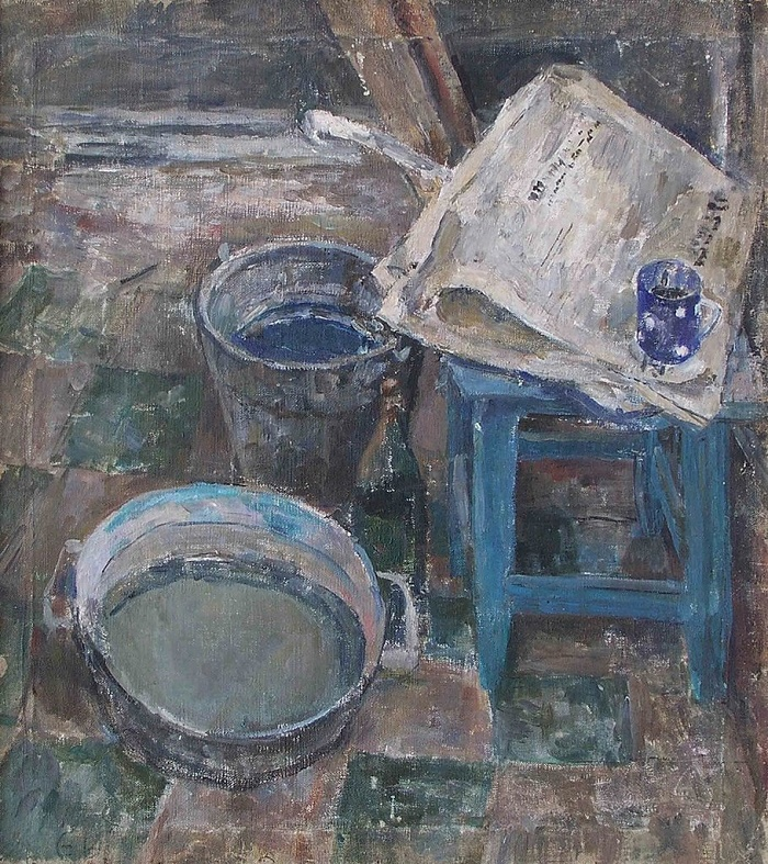 Newspaper. Still life. 1962