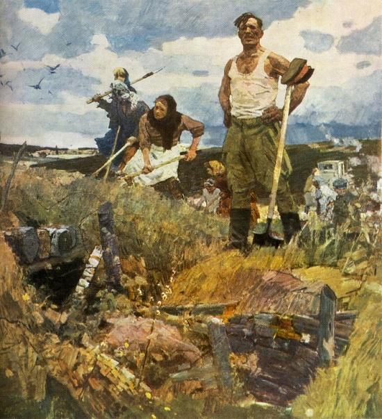 Soviet artist Alexandr Dmitriyevich Romanychev
