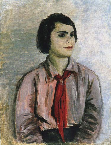 Pioneer girl (artist's daughter). 1933