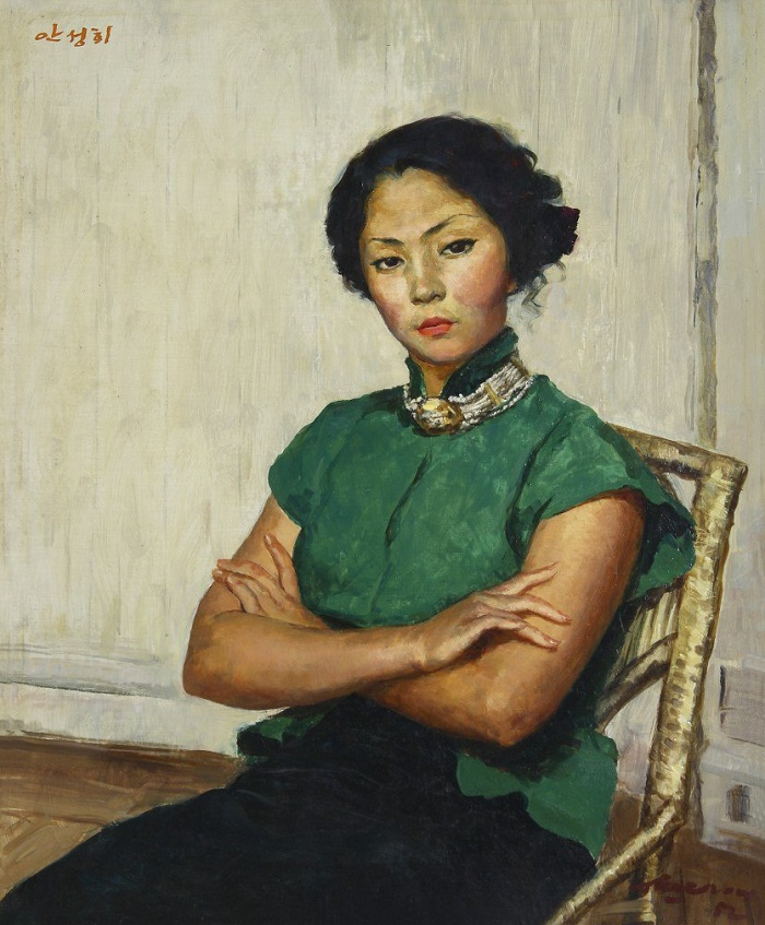 Korean actress An Song of Hee, 1952