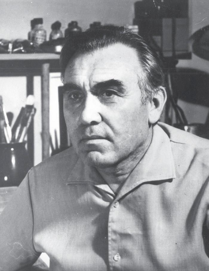 Soviet artist Alexandr Dmitriyevich Romanychev (September 18, 1919 - August 21, 1989)
