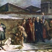 The shooting of the railwaymen by Kolchak in Kizel in 1919. 1935 Shegal