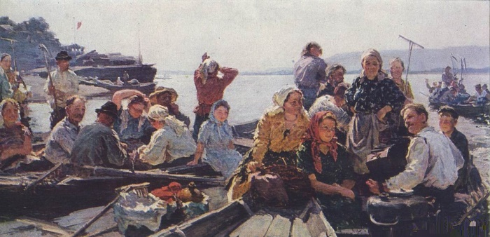 To the meadows, over the Volga. 1957