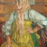 Soviet fashion model Mila Romanovskaya