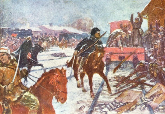 Capture of station Kastornaya