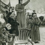 Detail. The arrival of Comrade Stalin in the First Cavalry Army. 1938