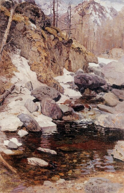 In the upper Anos. 1921. Oil on canvas