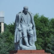 Monument to G. I. Gurkin. Opened July 5, 2006 in in the center of Gorno-Altaysk, work of sculptor V. Kukuyev