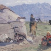 Nomads in the mountains. 1920