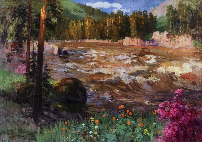 The Katun in spring. 1911. Oil on canvas