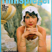 The cover of the magazine Filmspiegel (GDR) 13-1978. Soviet film actress Nina Maslova