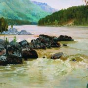 The river Katun. 1906. Oil on canvas