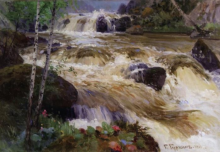 The river Kuyum. 1911