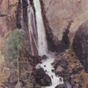 Waterfall Katu-Yaryk. oil on canvas
