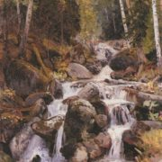 Waterfall on the Balyk-Suu. 1912. Oil on canvas