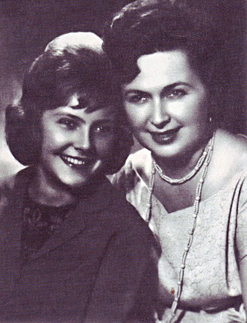 With her mother, left- Nina Maslova