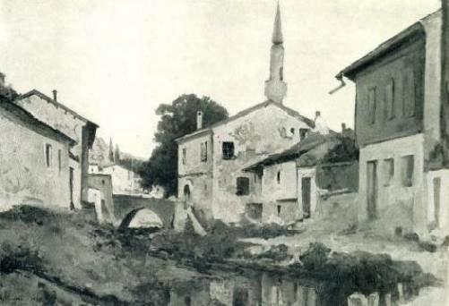 Bakhchisarai. Churu-Su. Evening. 1930. Oil