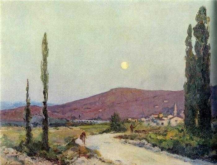 Beasal valley. Crimea. Oil on canvas. 1937