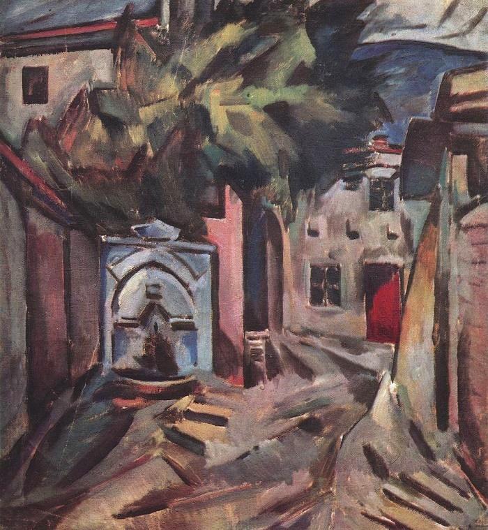 Blue fountain. 1911-1912