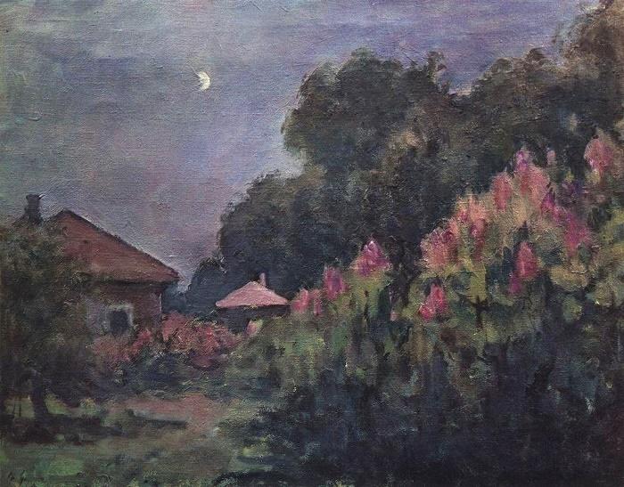 Evening and moon. Ruza, 1925